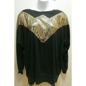 Vintage Black & Gold Top